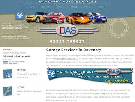 Daventry website design